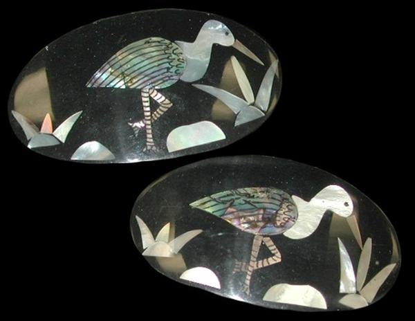 Mop Paua Bird Hair Clip A1-92
