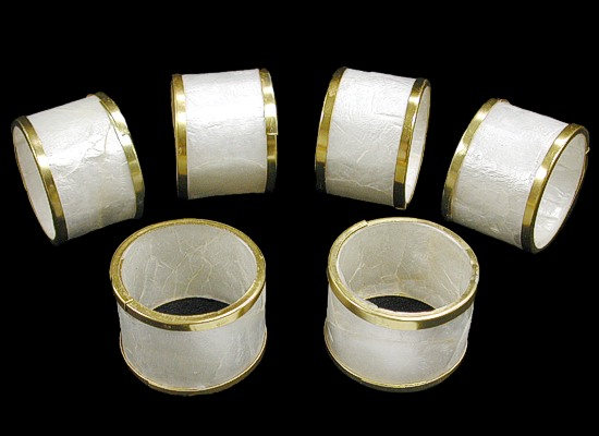 Capiz Napkin Ring Gold