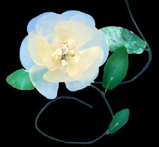 Capiz Shell Flower Stem 6  K1-32
