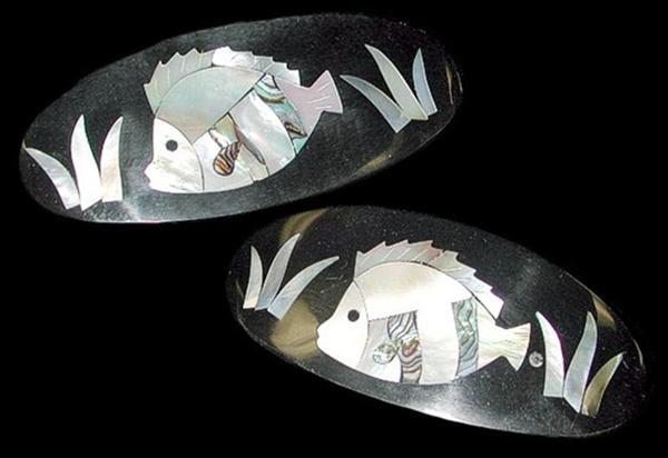Mop Paua FishHair Clip E1-92