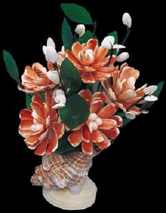 Strawberry Shell Flower Arrangement C1-33