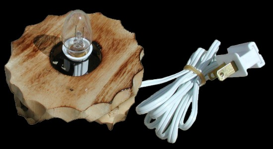 Lamp Wood Base Cord Line Switch