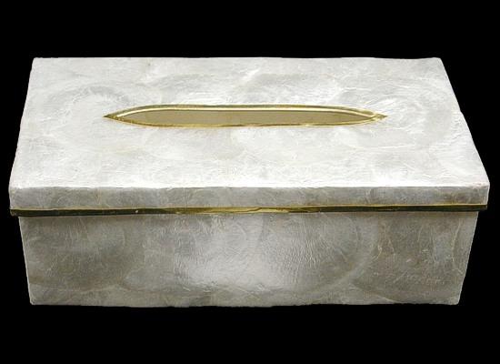 Capiz Gold Tissue Box L1-90