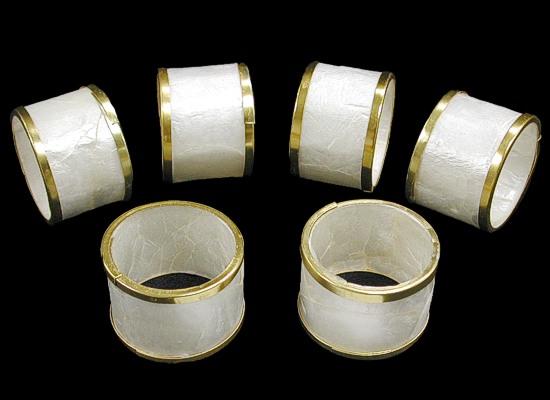 Capiz Napkin Ring Gold