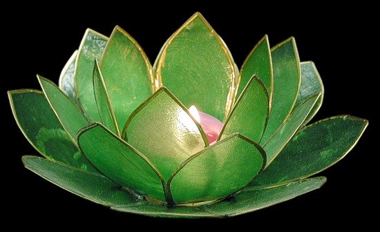 Green Lotus Candle Holder
