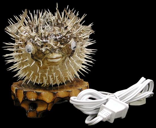 Porcupine Fish Lamp